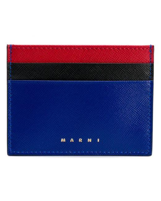Marni - Blue Slim Card Holder - Lyst