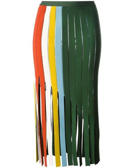 Marco De Vincenzo | Green Cut-out Panel Skirt | Lyst