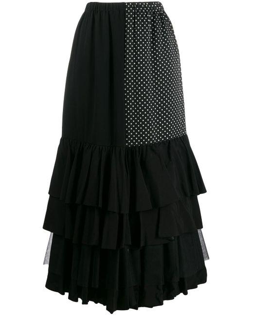 Junya Watanabe コントラストパネル スカート Black