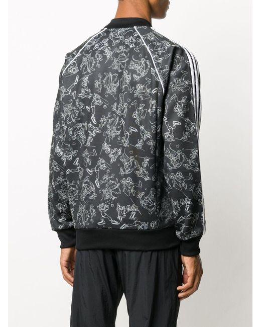 メンズ Adidas Goofy ボンバージャケット Black