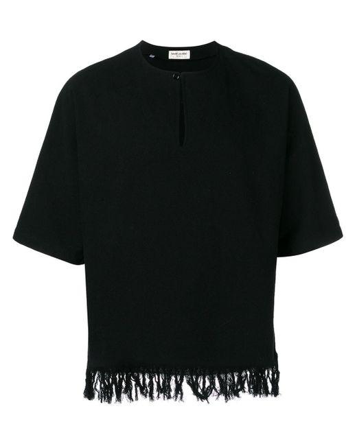 メンズ Saint Laurent フリンジ チュニック Black