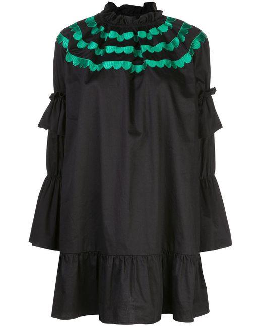 Cynthia Rowley Eden スカラップ ドレス Black