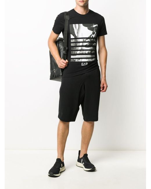 メンズ EA7 Addicted Tシャツ Black
