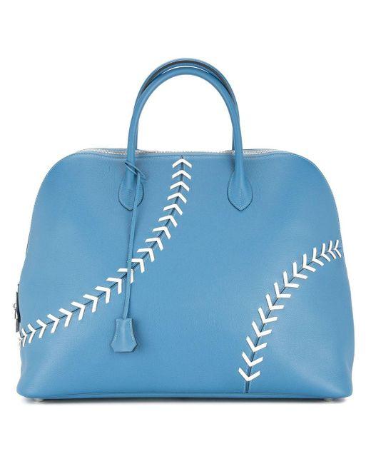 Сумка-тоут Sac Bolide Baseball Pre-owned Hermès, цвет: Blue