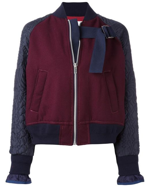 Sacai   Embroidered Bomber   Lyst