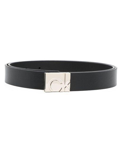 Ремень С Квадратной Пряжкой-логотипом Calvin Klein, цвет: Black