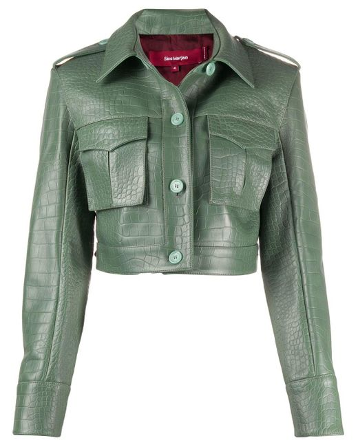 Sies Marjan クロコダイルパターン ジャケット Green