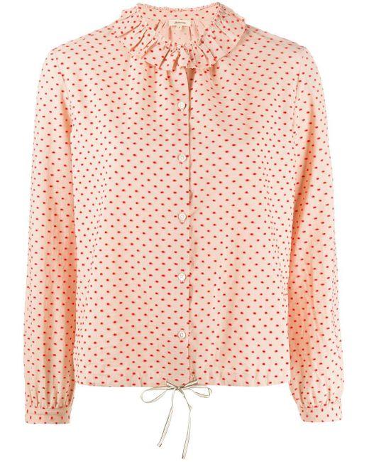 Bellerose ラッフル シャツ Pink