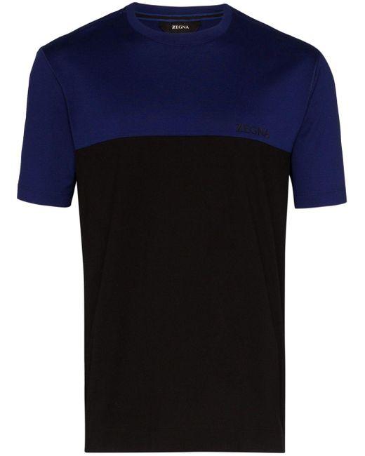 メンズ Z Zegna ロゴ パネルtシャツ Blue