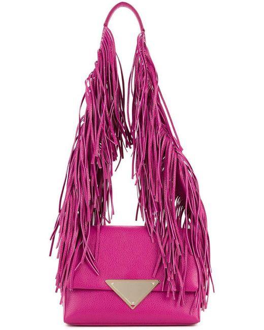 Sara Battaglia - Pink Fringed Strap Shoulder Bag - Lyst