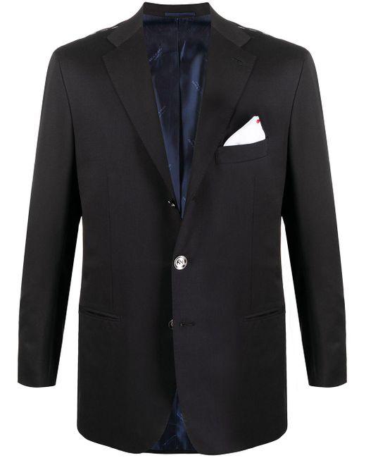 メンズ Kiton シングルジャケット Blue