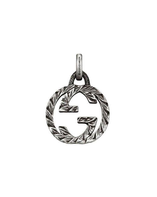 """Gucci - Metallic Anhänger mit """"GG""""-Logo for Men - Lyst"""