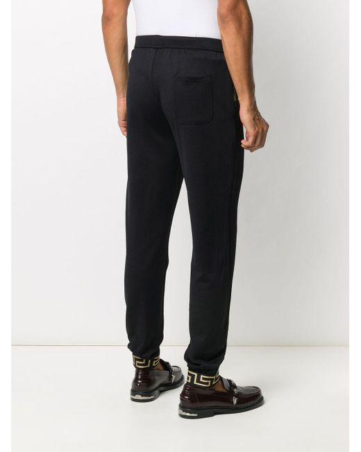 メンズ Versace グレカ トラックパンツ Black