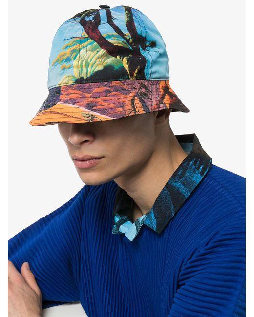 メンズ Valentino Floating Island バケットハット Blue