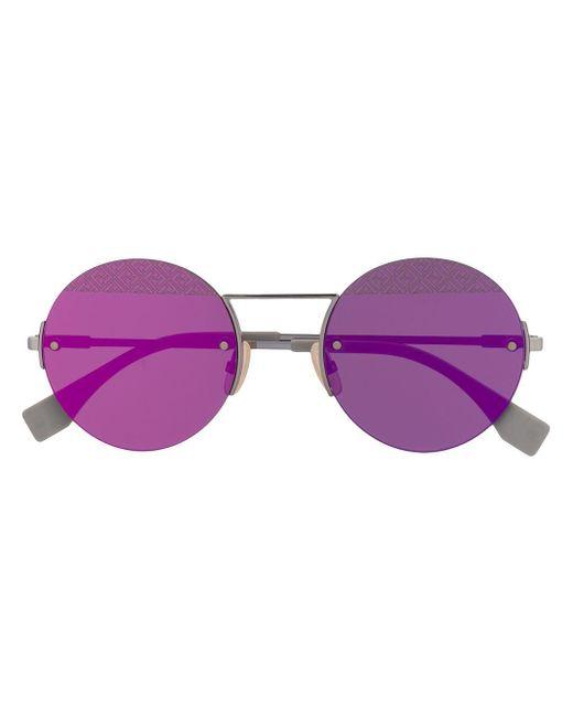 Fendi ラウンド サングラス Purple