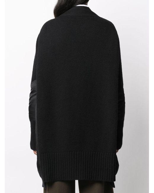 Sacai コントラストパネル ボンバージャケット Black