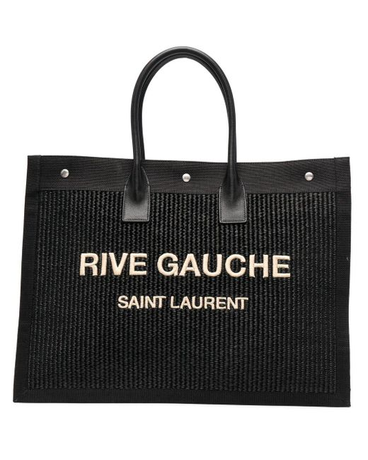 Saint Laurent Black Rive Gauche Tote Bag for men