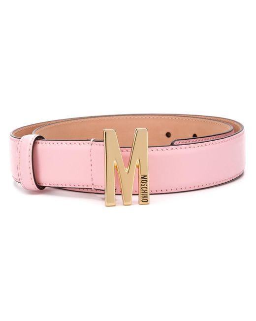 Moschino ロゴ ベルト Pink