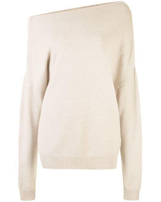 Джемпер Оверсайз С Открытыми Плечами Proenza Schouler, цвет: White
