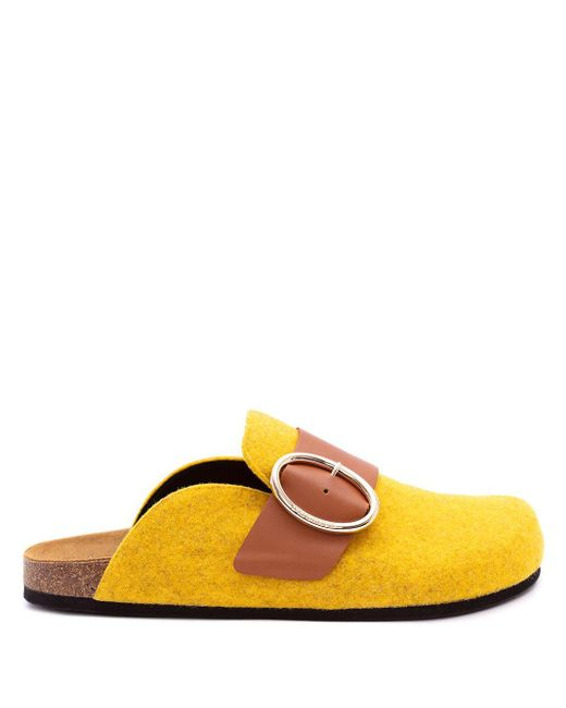Фетровые Мюли J.W. Anderson, цвет: Yellow