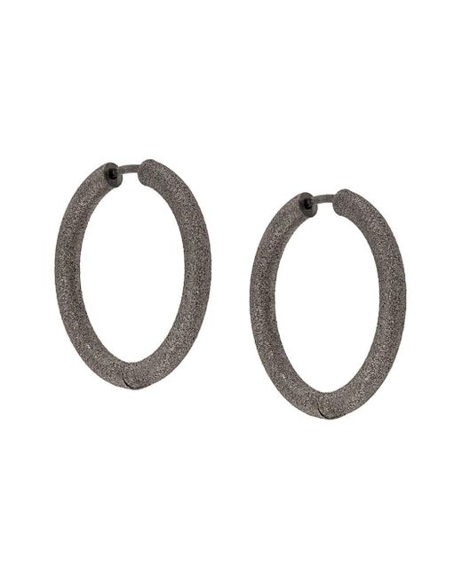 Carolina Bucci Florentine Finish Small Thick Round Hoop Earrings Multicolor