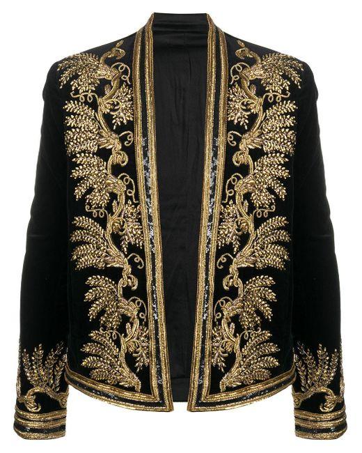 メンズ Balmain Spencer ベルベットジャケット Black
