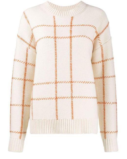 Chinti & Parker チェック セーター Natural