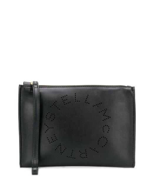 Stella McCartney ステラ ロゴ クラッチバッグ Black