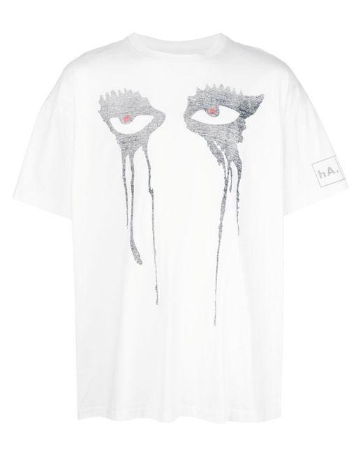 メンズ Haculla Moody Eyes Tシャツ White