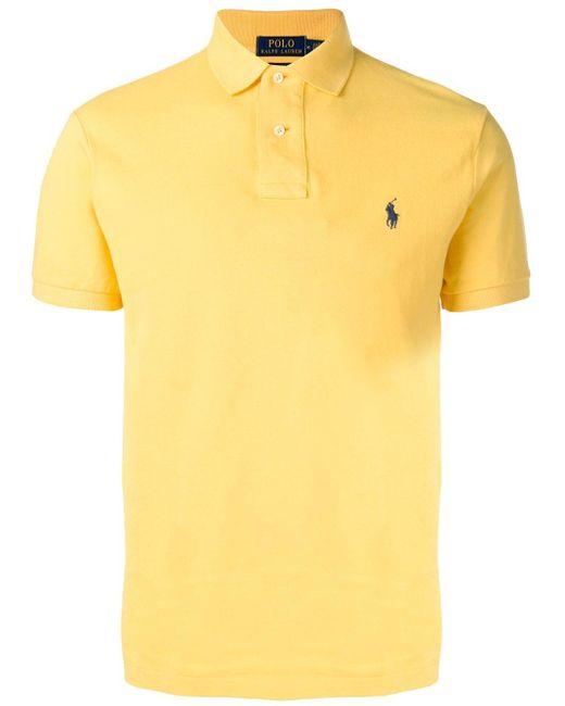 メンズ Polo Ralph Lauren スリム ポロシャツ Yellow