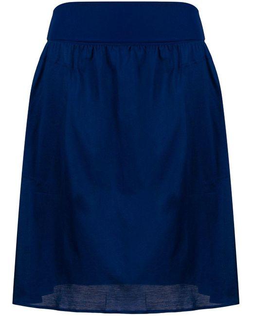 Eres サテン スカート Blue