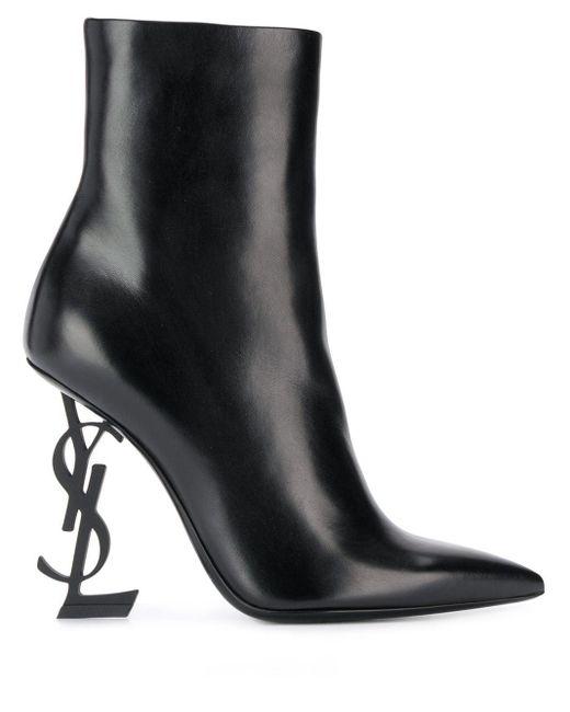 Ботильоны Opyum 110 Saint Laurent, цвет: Black