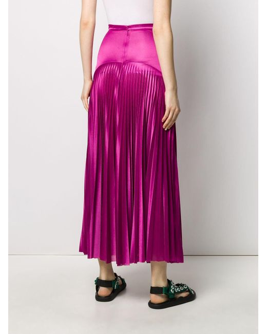 Christopher Kane ロング プリーツスカート Pink