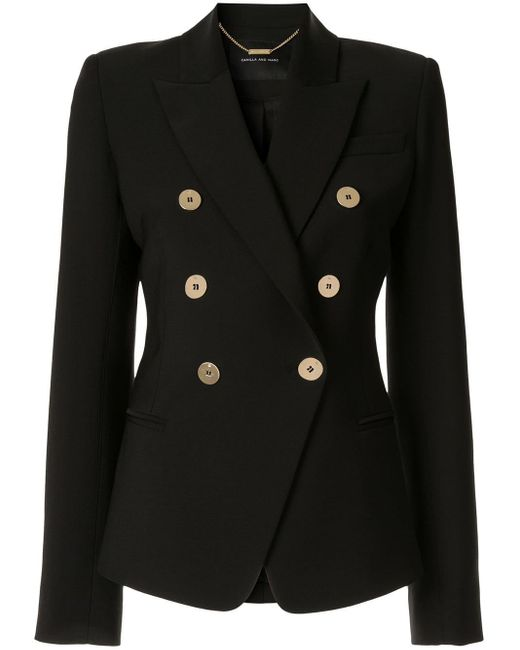 Camilla & Marc Black Double Breasted Blazer