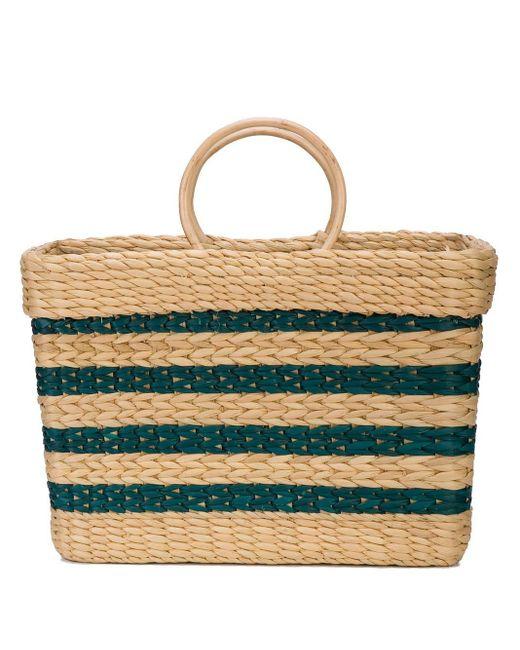 Poolside Brown Tote Bag