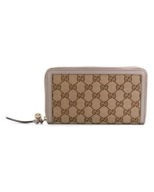 Gucci Multicolor GG Supreme Zip Around Wallet