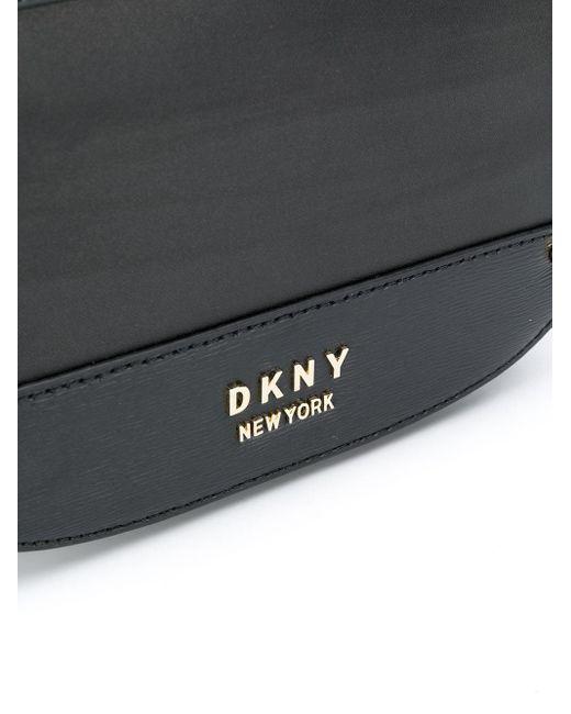 DKNY Thelma レザーショルダーバッグ Black