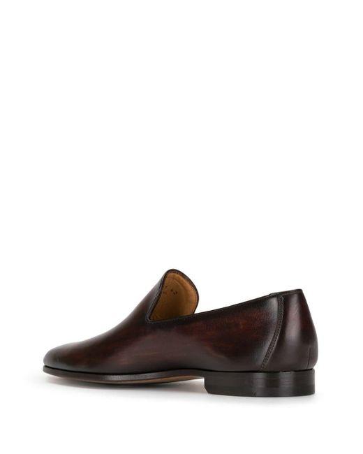 メンズ Magnanni Shoes レザーローファー Brown