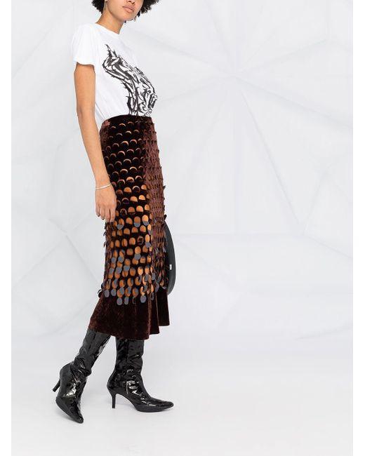 Юбка Миди С Завышенной Талией Maison Margiela, цвет: Black