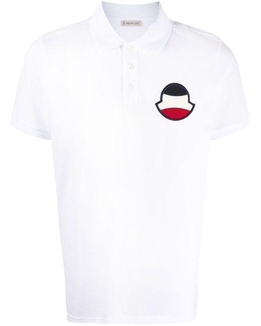 メンズ Moncler パッチ ポロシャツ White