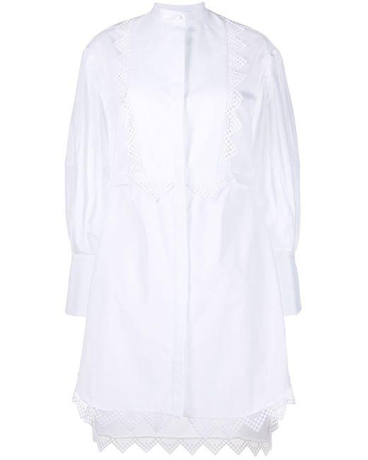 Alexander McQueen レーストリム ドレス White