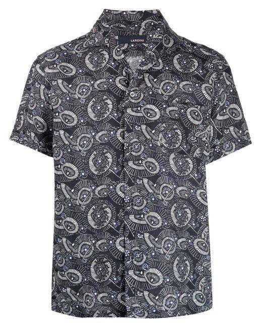 Рубашка С Графичным Принтом Lardini для него, цвет: Blue
