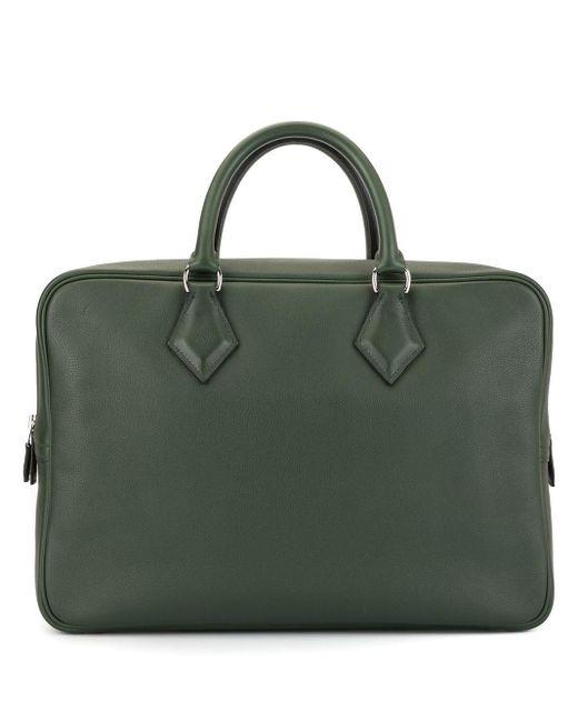 Сумка Plume 12h Business Pre-owned Hermès, цвет: Green