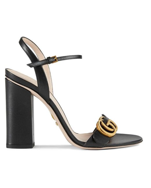 2590151caa19 Gucci - Black Leather Sandals - Lyst ...