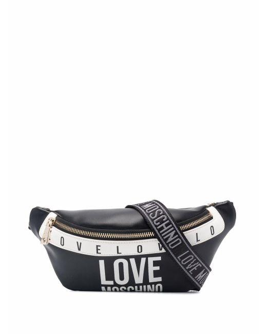 Love Moschino ロゴ ベルトバッグ Black