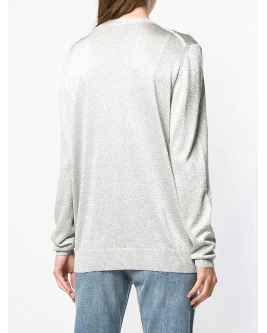 Philipp Plein メタリック スカル セーター Multicolor