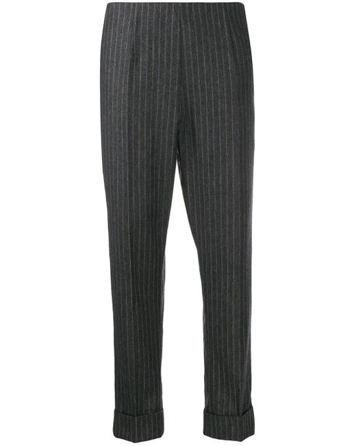 Antonio Marras Gray Pinstriped Cropped Trousers