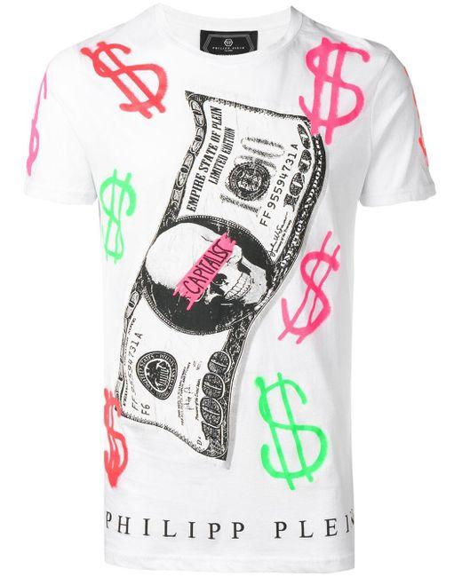 メンズ Philipp Plein Capitalist Tシャツ Multicolor