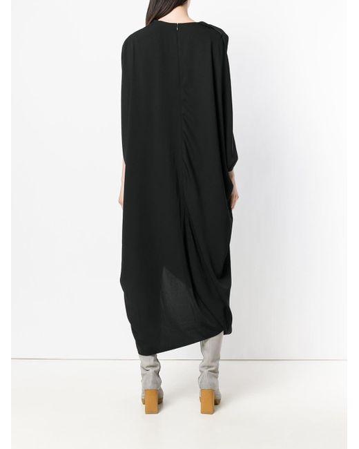 Chalayan Black Oval Slash Dress