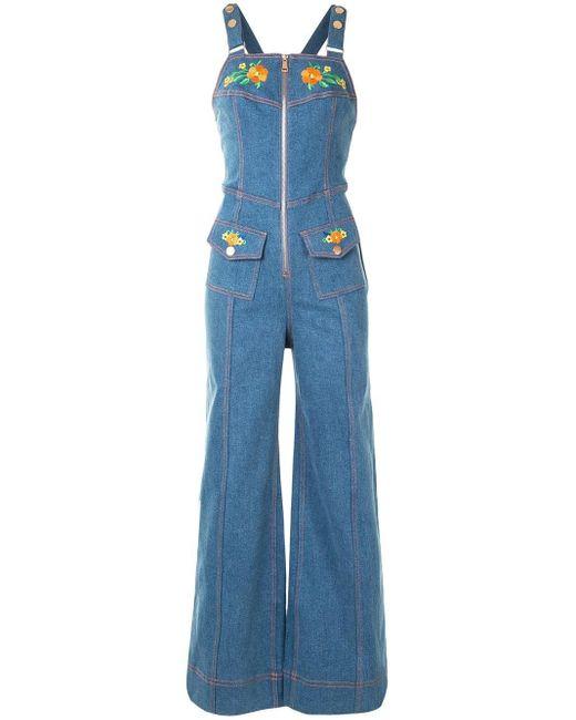 Alice McCALL Winona デニムジャンプスーツ Blue